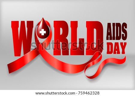 be48f21854f Aids World Cancer December Awareness Month Campaign Background with paper red  ribbon symbol, ribbon Awareness