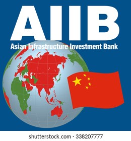 AIIB(Asian Infrastructure Investment Bank), image illustration