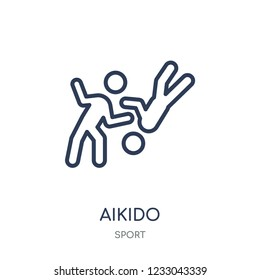 aikido icon. aikido linear symbol design from sport collection. Simple outline element vector illustration on white background