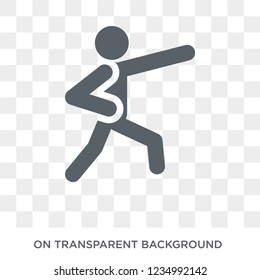 aikido icon. Trendy flat vector aikido icon on transparent background from sport collection.