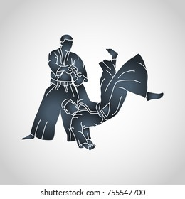 aikido vector logo icon illustration