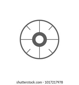 aim icon. Elements of gun aim icon. Premium quality graphic design icon. Signs, symbols collection icon for websites, web design, mobile app on white background