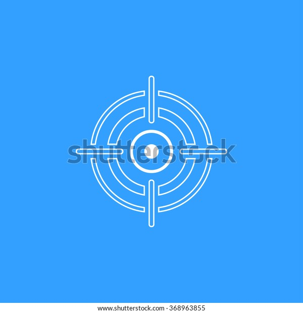 aim icon on blue background vector stock vector royalty free 368963855 shutterstock