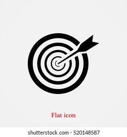 aim icon, vector best flat icon, EPS