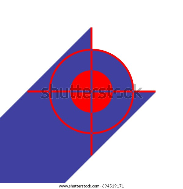 aim icon vector red flat style stock vector royalty free 694519171 shutterstock