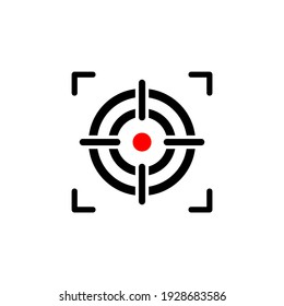 Aim icon vector. Target icon symbol illustration