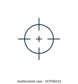 Aim isolated line icon on white background