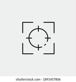 Aim vector icon illustration sign