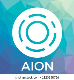 AION vector logo. The third-generation blockchain network. Aion crypto currency icon.