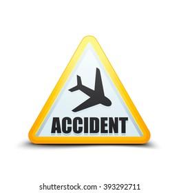 Air Accident hazard sign