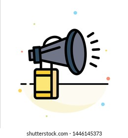 Air, Attribute, Can, Fan, Horn Abstract Flat Color Icon Template