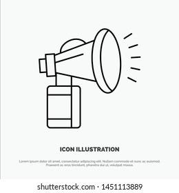 Air, Attribute, Can, Fan, Horn Line Icon Vector