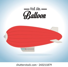 Air balloon design over cloudscape background,vector illustration.