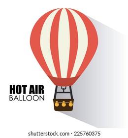 Air balloon design over white background, vector illustration