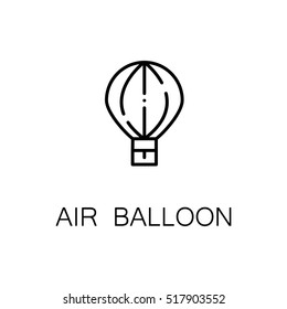 Air balloon flat icon. Single high quality outline symbol of recreation for web design or mobile app. Thin line signs of air balloon for design logo, visit card, etc. Outline pictogram of air balloon