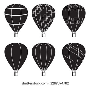 Air balloon flying