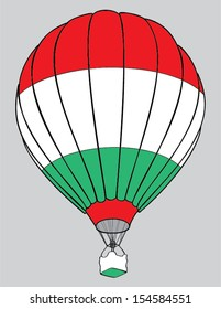 air balloon hungarian  flag