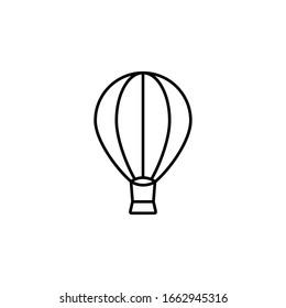 air balloon icon black vector illustration