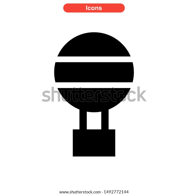 air balloon icon isolated sign symbol vector illustration - high quality black style vector icons