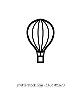 Air balloon icon trendy design template