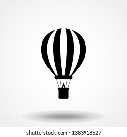 Air balloon icon, vector illustration. Flat design style. vector air balloon icon illustration isolated on white background, graphic design vector symbols. Eps10