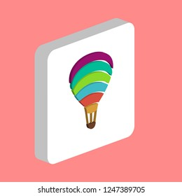 Air Balloon Journey Simple vector icon. Illustration symbol design template for web mobile UI element. Perfect color isometric pictogram on 3d white square. Air Balloon icons for you business project
