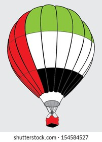 air balloon United Arab Emirates  flag