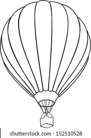 air balloone outline