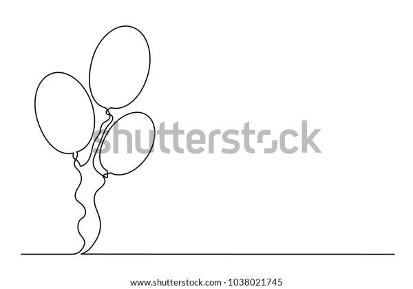 Image Vectorielle De Stock De Ballons Gonflables Dessin D Une