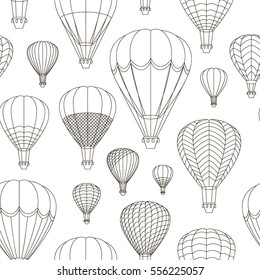 Air Balloons set pattern. Vector illustration, EPS 10