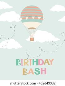 Air Birthday card in retro style