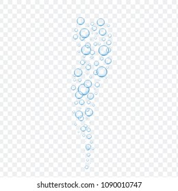 Air bubbles set isolated on transparent background. For web site,backdrop,texture and pattern template. Creative art concept, vector illustration, eps 10