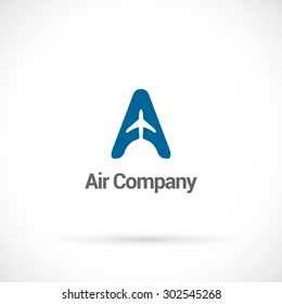 Air company  logo design vector template.