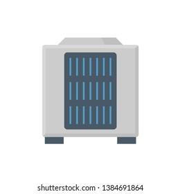 Air compressor icon design on white.
