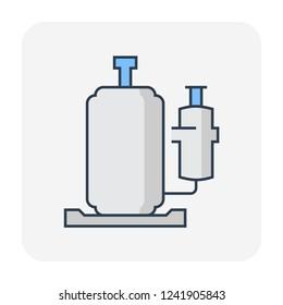 Air compressor part icon, editable stroke.