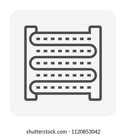 Air condenser coil icon, 64x64 perfect pixel and editable stroke.