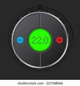 Air condition gauge with bright green lcd display