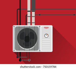 Air condition system with tubes 2