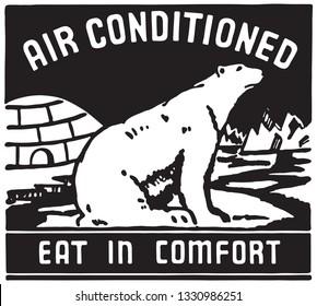 Air Conditioned - Retro Ad Art Banner