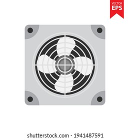 Air conditioner (AC) indoor unit icon or evaporator and ceiling mounted. That is part of mini split system or ductless system type. For removing heat and moisture from room.