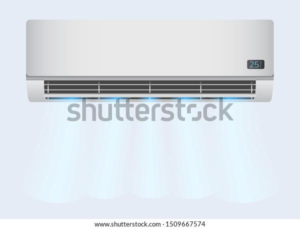 Vektor Stok Air Conditioner Background Modern Ac Air (Tanpa Royalti)  1509667574