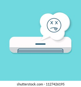 Air Conditioner Broken icon. Repair clipart isolated on white background