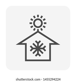 Air conditioner and home vector icon design.
