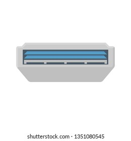 Air conditioner icon, ceiling type isolated on white background.