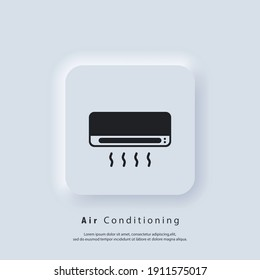 Air conditioner icon. Air conditioning. Vector. UI icon. Neumorphic UI UX white user interface web button. Neumorphism