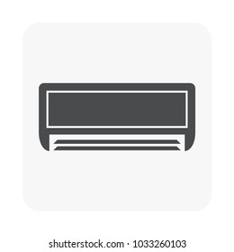 Air conditioner icon on white.