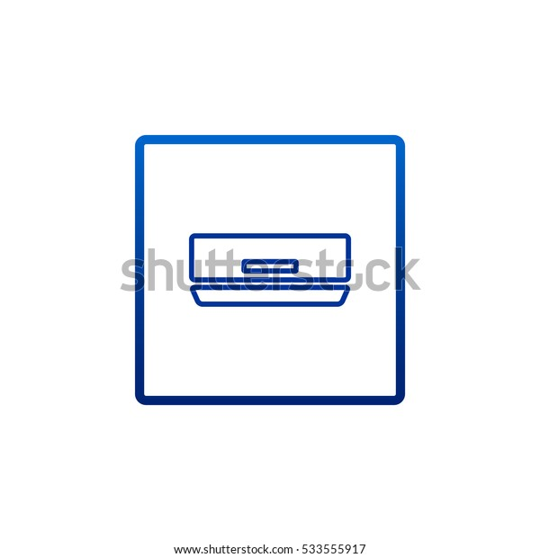 Air conditioner Icon Vector.