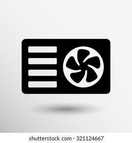 air conditioner icon vector button logo symbol concept.