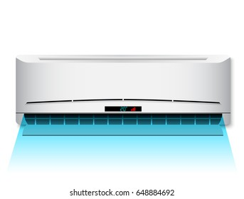 Air conditioner indoor unit with the cold air flow