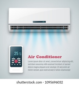 Air conditioner vector background ad.